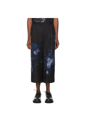 Lad Musician Black 2Tuck Cropped Trousers