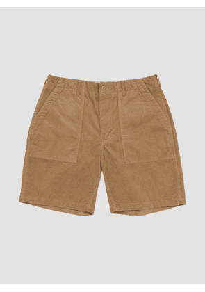 Engineered Garments 14W Corduroy Fatigue Short Khaki
