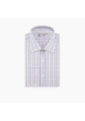 Pastels Travel Check Shirt with T & A Collar and Button Cuffs