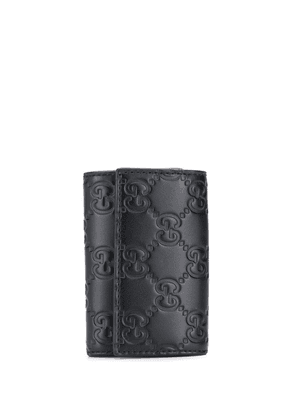 Gucci Gucci Signature embossed key holder - Black