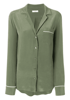 Equipment single pocket button blouse - Green