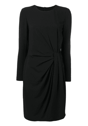Boutique Moschino draped-front dress - Black