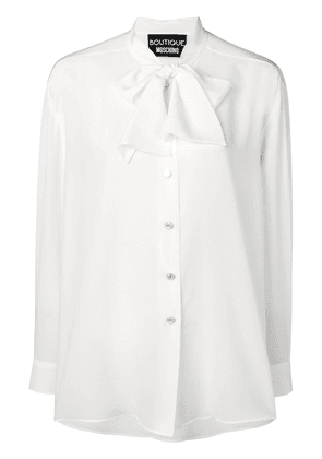 Boutique Moschino pussy-bow collar blouse - White