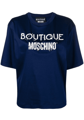 Boutique Moschino logo T-shirt - Blue