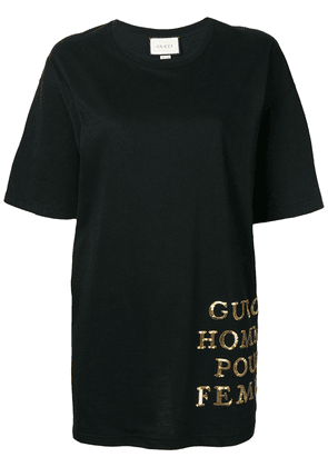 Gucci oversized sequin detail T-shirt - Black