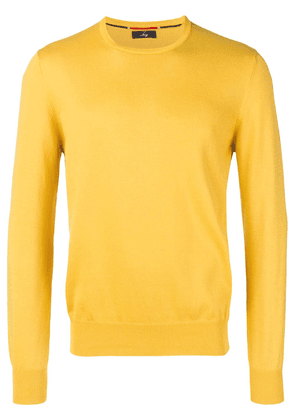 Fay crewneck knitted jumper - Yellow