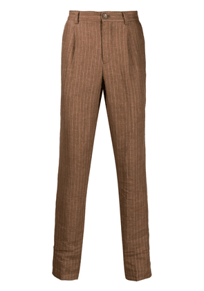 Brunello Cucinelli striped tailored trousers - Brown