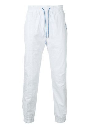 Filling Pieces embroidered logo track pants - Blue
