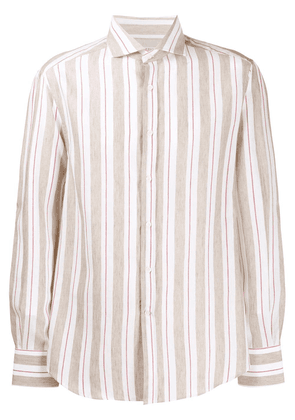 Brunello Cucinelli striped button shirt - Neutrals