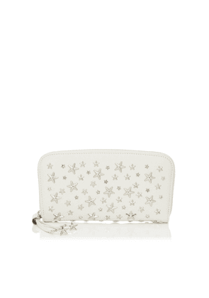 FILIPA Chalk Leather Wallet with Crystal Stars