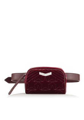 HELIA CAMERA BAG Bordeaux Velvet Camera Bag with Stitched Stars