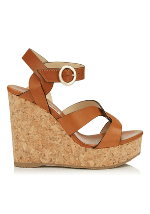 ALEILI 120 Cuoio Vachetta Leather Wedge with Buckle
