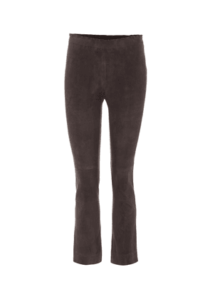 Maria Rosa cropped suede trousers