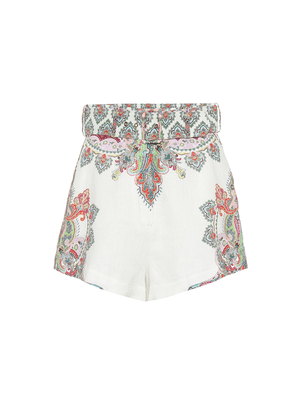 Ninety-Six Filigree linen shorts