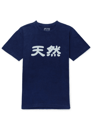 Blue Blue Japan - Printed Cotton-jersey T-shirt - Indigo