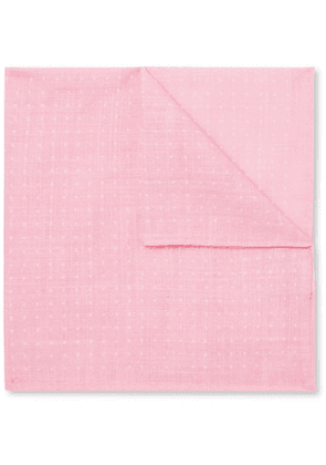 Anderson & Sheppard - Polka-dot Cotton Pocket Square - Pink