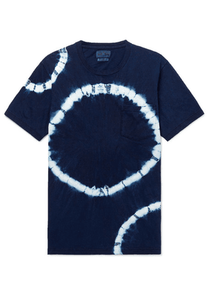 Blue Blue Japan - Tie-dyed Cotton-jersey T-shirt - Indigo