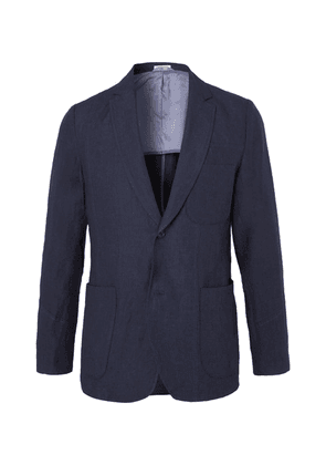 Blue Blue Japan - Indigo Slim-fit Unstructured Linen Blazer - Indigo
