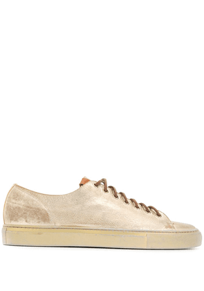 Buttero contrast laces sneakers - Gold
