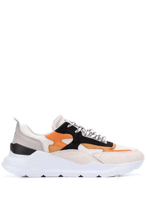 D.A.T.E. panelled sneakers - White