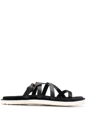 Buttero toe strap sandals - Black
