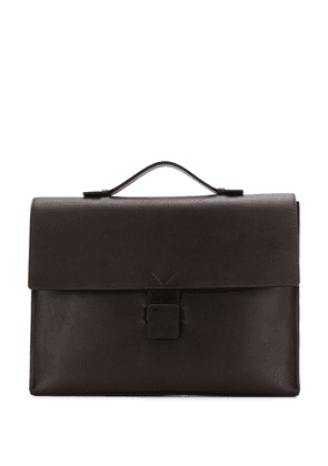 Orciani panelled briefcase bag - Brown
