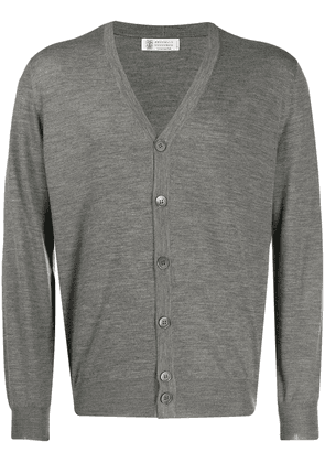 Brunello Cucinelli slim-fit knitted cardigan - Grey