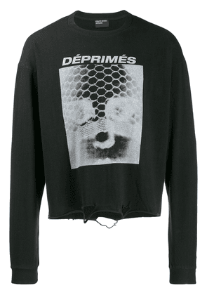 Enfants Riches Déprimés ripped detail sweatshirt - Black