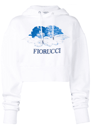 Fiorucci Angels cropped hoodie - White