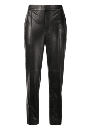 Neil Barrett cropped leather trousers - Black