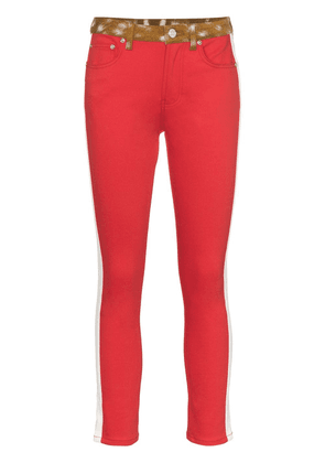 Burberry Bambi side stripe skinny jeans - Red