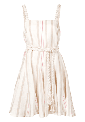 Alexis rope-belt mini dress - White