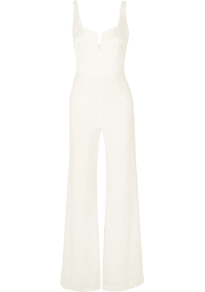Galvan - Paneled Crepe Jumpsuit - White
