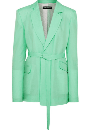 House of Holland - Oversized Belted Ripstop Blazer - Mint