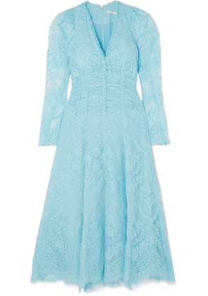 Erdem - Annalee Ruched Corded-lace Dress - Blue