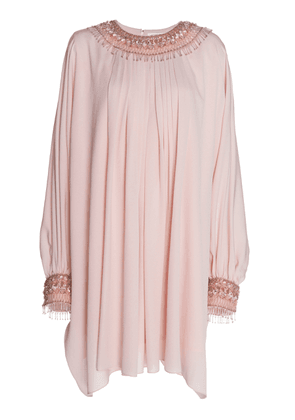 Andrew Gn Embellished Silk-Blend Mini Dress