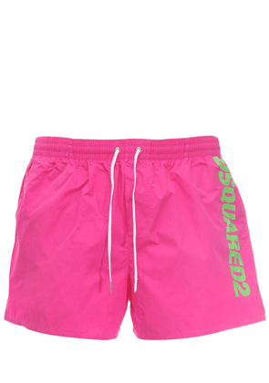 Logo Print Nylon Swim Shorts