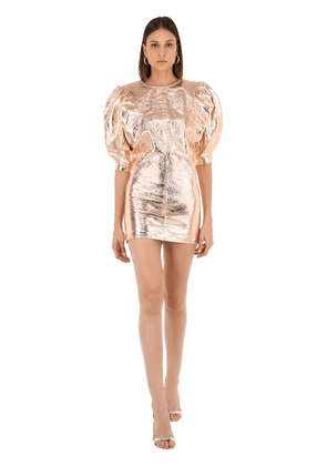 Nadela Metallic Leather Mini Dress