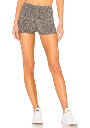 Beyond Yoga Spacedye Circuit High Waisted Short Shorts in Gray. Size M.