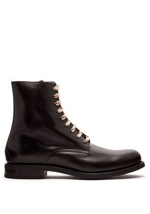 361c680c194 Gucci | Pryntil Patent Leather Boots | Mens | Red | MILANSTYLE.COM