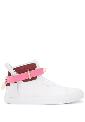Buscemi hi-top ankle strap sneakers - White