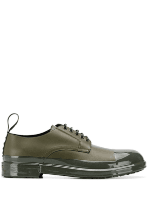 Dolce & Gabbana shiny toe cap derby shoes - Green