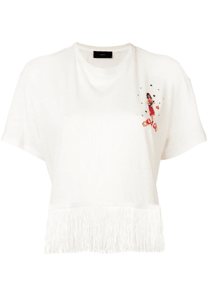 Alanui Hawaiian embroidered T-shirt - White
