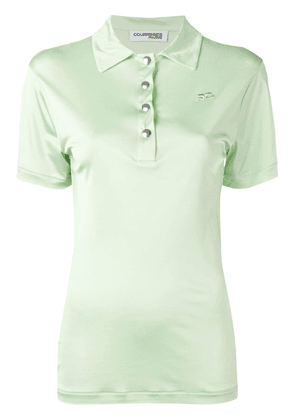 Courrèges short sleeved polo top - Green