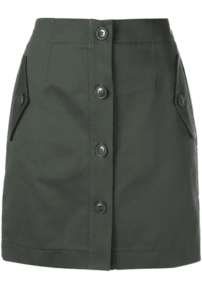 Givenchy short buttoned military skirt - Green