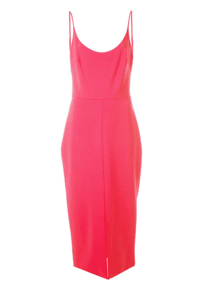 Christian Siriano fitted midi dress - Pink