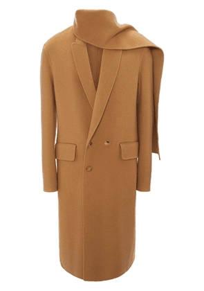 JW Anderson camel double face wool scarf coat - Brown