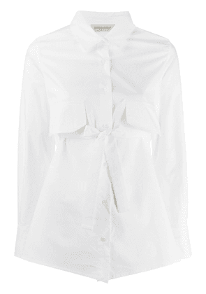 Gentry Portofino bow embellished shirt - White