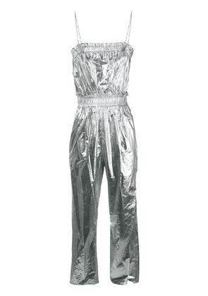 Isabel Marant metallic fitted jumpsuit - Silver