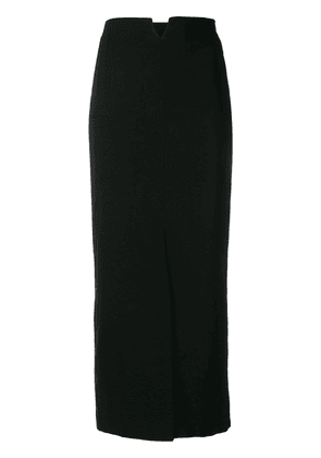 Erika Cavallini straight slit skirt - Blue